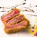 料理メニュー写真鹿児島産黒毛和牛イチボのレアカツ