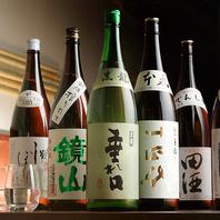料理の味を引き立たせる厳選地酒や日本酒・焼酎