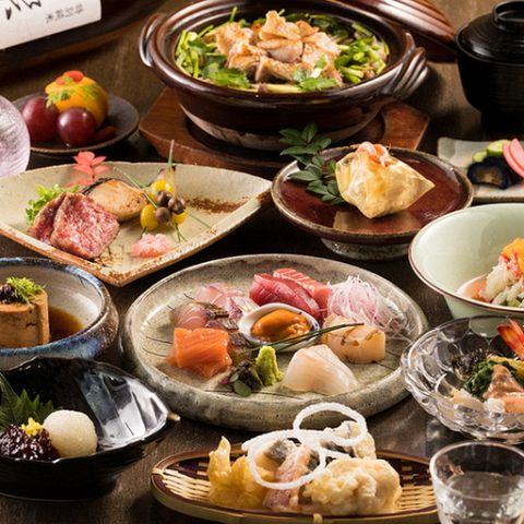 【和食宴会・接待・会食】厳選食材使用 赤城和牛、選べる土鍋ご飯の特選コース  料理全10品