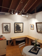 ギャラリーでは三島 勝絵画展を常設展示しています。