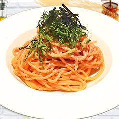 料理メニュー写真ALL¥500均一★明太子とイカのと青じそのクリームパスタ