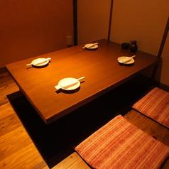 個室でゆったりとお食事を!4名席4個室有り!(最大16名様対応)
