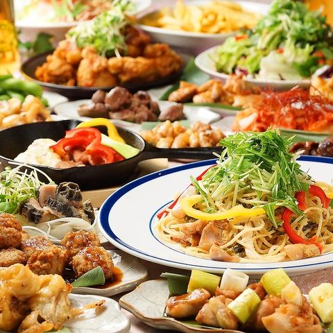 3時間食べ飲み放題370種☆焼鳥・鶏鍋も食べ放題2999円♪