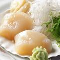 料理メニュー写真北海道産 大粒ほたてのお刺身など