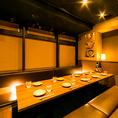 大人の雰囲気がコンセプトの個室はお勤め先でのご宴会や気の合う仲間とのご宴会にもおすすめ。当日利用できるコースもご用意しておりますので是非ご活用ください。(飯田橋・居酒屋・個室・焼き鳥・飲み放題・宴会)