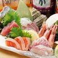 料理メニュー写真海鮮お造り三種舟盛