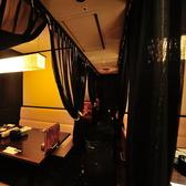 少人数の個室空間はカーテンで仕切りあり