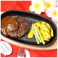 料理メニュー写真牛肉100%ハンバーグ