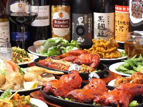アジアン料理が楽しめるダイニング!お酒の種類も豊富にご用意♪