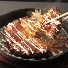 料理メニュー写真シンプルお好み焼き(ソース)