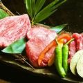 料理メニュー写真特選国産牛の盛り合わせ(2~3人前)
