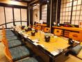 8名様用のお座敷。昼の宴会にもピッタリなお席。ご家族の慶事や会社の接待などに喜ばれています。