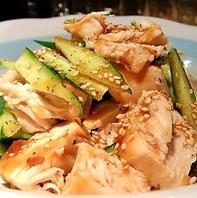 鶏むね肉ときゅうりのさっぱりおつまみ750円