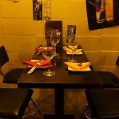 4名様用のテーブル席。