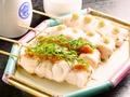料理メニュー写真笹身の梅じそ 2本/笹身のわさび 2本