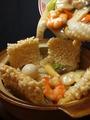 料理メニュー写真特大エビマヨネーズ/海鮮と野菜の塩味炒め/エビ玉チリソース/海鮮五目おこげ