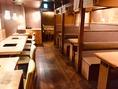 テーブル席とボックス席をつなげると最大24名様までご利用可能!