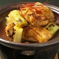料理メニュー写真鳥もも肉と白葱の味噌照焼き