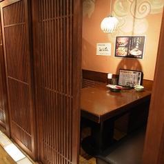 2人のお客様には半個室のお席をどうぞ!【居酒屋 渋沢 飲み放題 個室 飲み放題】