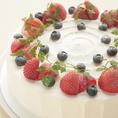 定番の苺のショートケーキもひと味違う