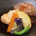 豆腐と季節野菜の揚げだし