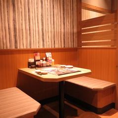 2名様用のテーブル席です。友人とのお食事やデートなど様々なシーンでご利用いただけます◎