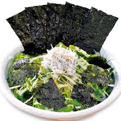 漁師風シーザーサラダ/たっぷりしらす入り銀次の「海苔のり」サラダ