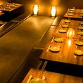 和庭園を思わせるような店内が自慢のひとつ。掘りごたつ個室、テーブル個室、カウンター席と多種多様なお席をご用意しておりますのでさまざまなご利用シーンで活躍すること間違いなし!(飯田橋・居酒屋・個室・焼き鳥・飲み放題・宴会)