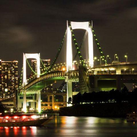 お台場の観覧車や東京タワーをバックに写真撮影も…♪
