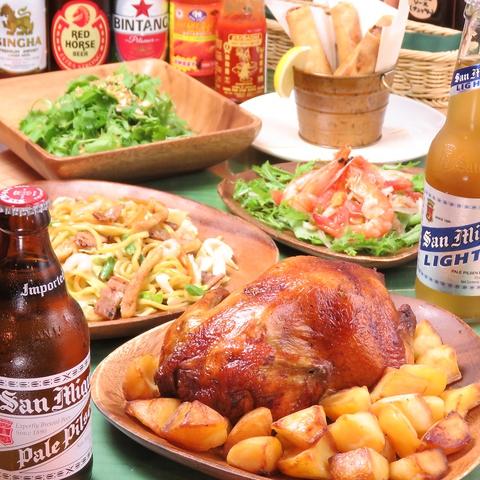 都内ではめずらしい!こだわりのロティサリ―チキンとフィリピン料理をお気軽に♪