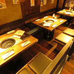 2名~4名様向けのゆったりテーブル席♪