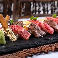 新鮮な赤身肉を炙り肉寿司に!豪華食べ放題♪