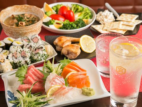 多彩なお料理・お酒と一緒にカラオケで盛り上がれる居酒屋♪女子会・宴会にお勧め♪