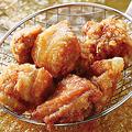 料理メニュー写真お店仕込みの若鶏唐揚げ