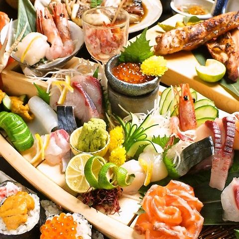 こだわりは【旬と仕入れどころ】北海道の新鮮魚介から近郊の昼網まで旬を求めた品質