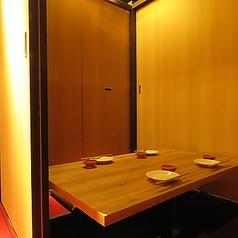 2名部屋『少人数飲み会にピッタリ』…全席個室へのご案内になりますので2名様~の少人数でもまったりとお過ごしいただけます。