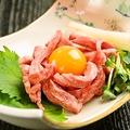 料理メニュー写真≪限定品≫ 和牛タンユッケ