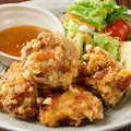 料理メニュー写真若鶏の唐揚げ~自家製ゆずソース添え~