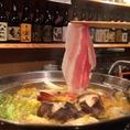鹿児島県産黒豚を使用したあったか鍋。
