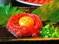 料理メニュー写真【特選】桜ユッケ/わさび桜ユッケ