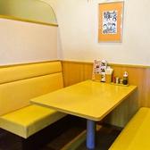 ご家族やお友達との団欒にぴったりのテーブル席です。