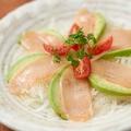 料理メニュー写真阿波尾鶏とアボカドのカルパッチョ