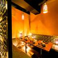 ◆テーブル個室です。落ち着きのある空間で大切な方とごゆるりとお過ごしください。誕生日記念日プレートクーポンでメッセージ入りのプレートをご用意致します♪