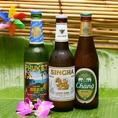 アジアのボトルビール各種ございます★本格アジアンカクテルも豊富に取りそろえております。女性限定飲み放題のみプランは1512円(日~木限定)。