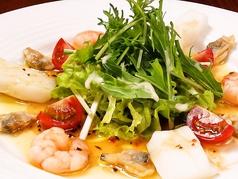 料理メニュー写真海老&イカ&アサリのカルパッチョ