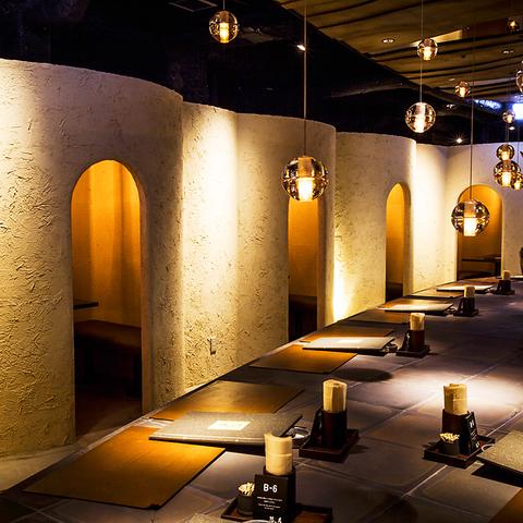 隠れ家のような寛ぎの空間、旬が薫る和食と匠の和酒を堪能できるDINING