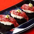 料理メニュー写真肉のお寿司~馬握り~