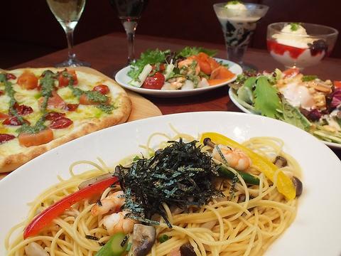落ち着いた雰囲気の店内で、まったりとイタリアン料理をお楽しみ下さい