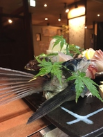 その時期旬の魚を使ったお料理多数!