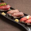 料理メニュー写真肉寿司6貫